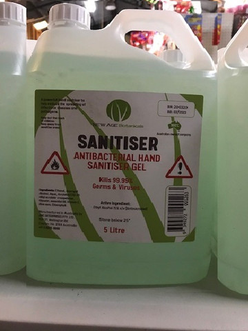 Anti Bacterial Hand Sanitizer Gel - 5 Litre