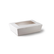 L564S0001(D9820) Small Lunch Box with Window White