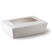 L590S0001(9502) Medium Lunch Window Boxes White