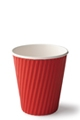 Detpak 8oz Ripple Cups Red