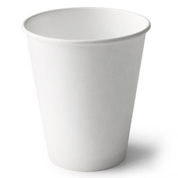 Detpak 8oz Single Wall Paper Cups White