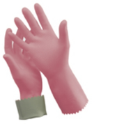 Silverlined Rubber Gloves - Size 8