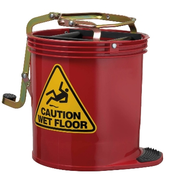 ED Oates Mop Bucket with Castors Red