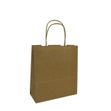 Baby Paper Carry Bags with Twist Handles - Brown