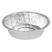 Capral 164 Foil Small Round Pie Container Base Perforated