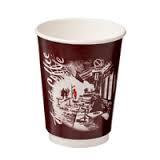 """CA-DW12-CM Castaway 12oz Double Wall Paper Cups """"Cafe Montmarte"""""""