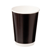 CA-DW16CPT-BLK Castaway 16oz Double Wall Cups Black (300)