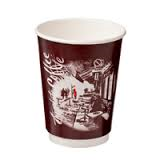"CA-DW16CPT-CM Castaway 16oz Double Wall Cups ""Cafe Montmarte"""