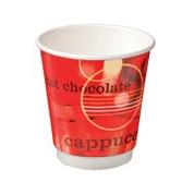 """CA-DW8-CV Castaway 8oz Double Wall Cups """"Café Verve"""""""