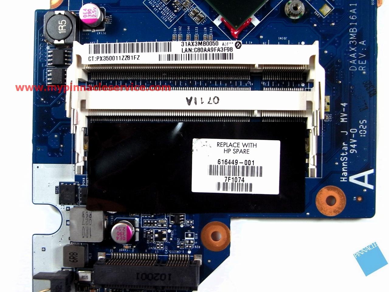 HP G62 G72 G62-220US G62-225NR G72-227WM G72-259WM Intel Motherboard 616449-001