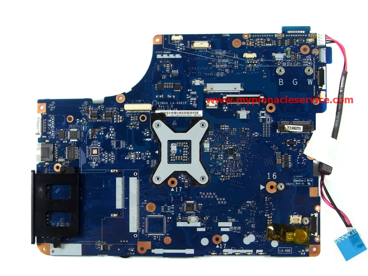 Excellent for Toshiba L500 L550 L555 Laptop Motherboard DDR3 K000092150 KSWAA LA-4982P 100/% Working