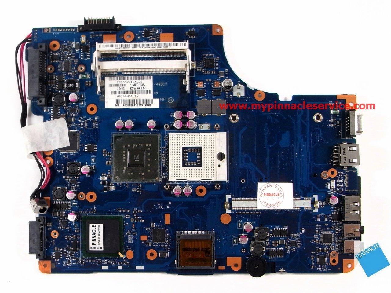 Toshiba Mother Board P000549190 Sparepart