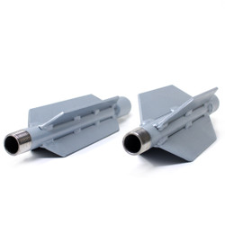 """Finned Steel Style Nozzle Extensions, 1"""" or 3/4"""", Small and Large diameters, Pipe Range: 6 and Up"""