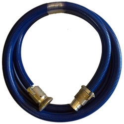 Lightweight Rod Guide Hose, blue jacket, with end fittings (multiple lengths)
