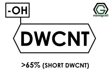 (-OH) Fonksiyonlaştırılmış Kısa Boylu Çift Duvarlı Karbon Nanotüp, Saflık > 65%