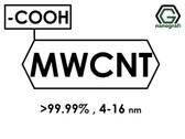 (-COOH) Fonksiyonlaştırılmış Grafitleştirilmiş Çok Duvarlı Karbon Nanotüp (Saflık > 99.99%, Dış Çap: 4-16nm)