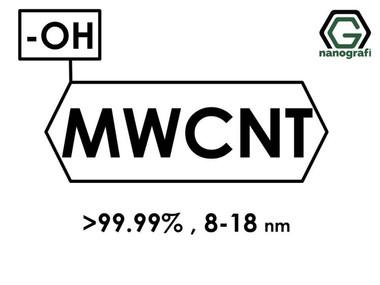 (-OH) Fonksiyonlaştırılmış Grafitleştirilmiş Çok Duvarlı Karbon Nanotüp (Saflık > 99.99%, Dış Çap: 8-18nm)