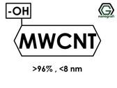(-OH) Fonksiyonlaştırılmış Çok Duvarlı Karbon Nanotüp (Saflık > 96%, Dış Çap: <8nm)