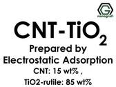 Karbon Nanotüp- TiO2 Elektrostatik Adsorbsiyon ile Hazırlanmış (KNT'ler 15%ağ : TiO2-Rutil 85%ağ)