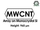 Çok Duvarlı Karbon Nanotüp - Monokristal Silikon Üzerinde Sıralanmış, Yükseklik: 960um