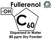 Polihidroksilat Fulleren (Fullerenol) / C60, -OH ile Fonksiyonlaştırılmış, Su İçerisinde Disperse Edilmiş, 80 ppm