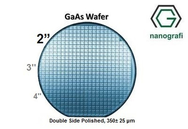 """GaAs Wafer, 2"""", Double Side Polished, 350± 25 μm, EPI-ready"""