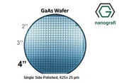 "GaAs Wafer, 4"", Single Side Polished, 625± 25 μm, EPI-ready"