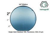 Indium Phosphide (InP) Wafers, 2'' , Single Side Polished, 100, Thickness: 350± 25 μm, EPI-Ready