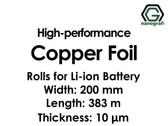 Lityum İyon Pil için Yüksek Performanslı Bakır Folyo 10um Rulolar