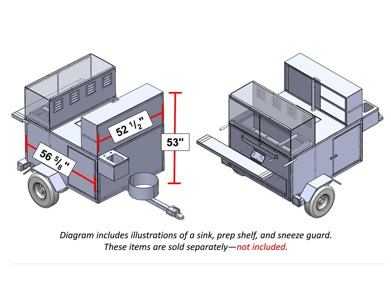 HotDog Cart CAD Images