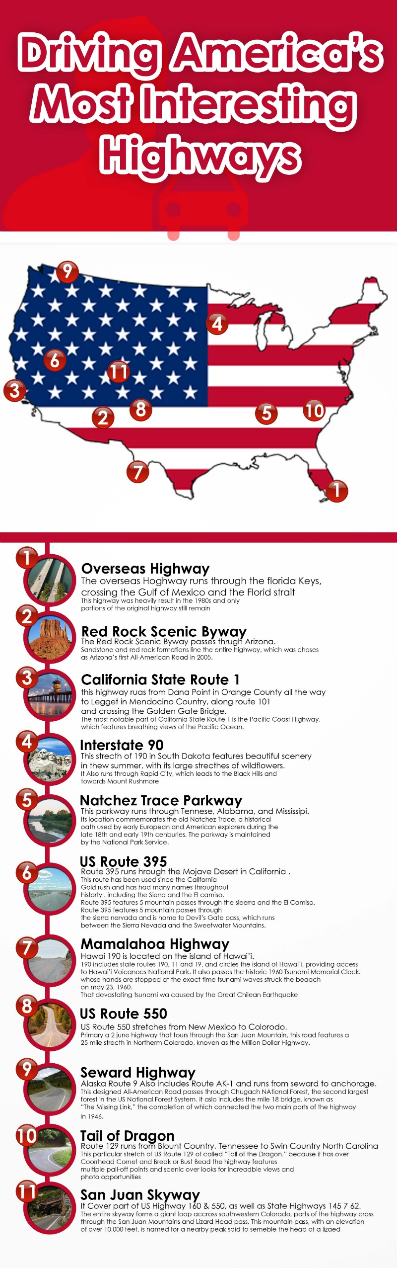 America's most interesting highways for motorcycle riding