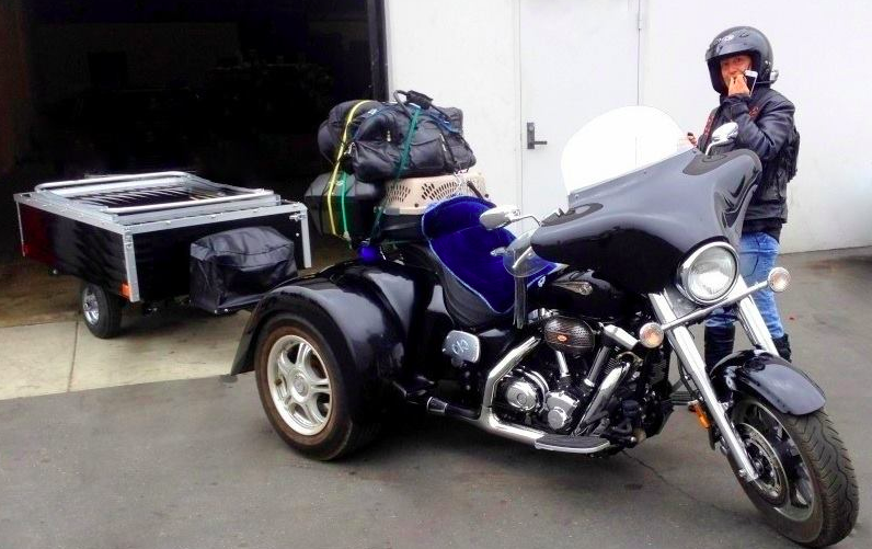 How to use the Solace motorcycle camping trailer