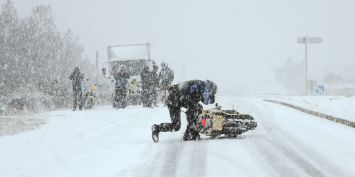 Tips for motorcycle riding in winter