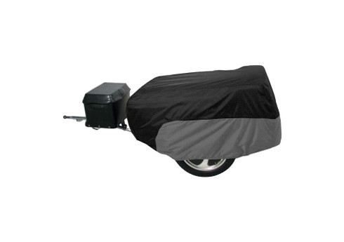 Motorcycle Trailer Cover - Black & Grey