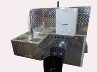 4 Basin Sink - Heritage Hot Dog Cart