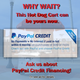 Pay Pal Credit Card