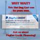 Pay Pal Credit Card