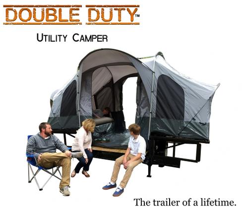 Double Duty Utility Motorcycle Camper Trailer