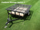 Double Duty Utility Trailer Platform Storage