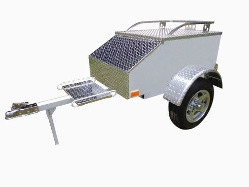 Lumina Motorcycle Trailer - White