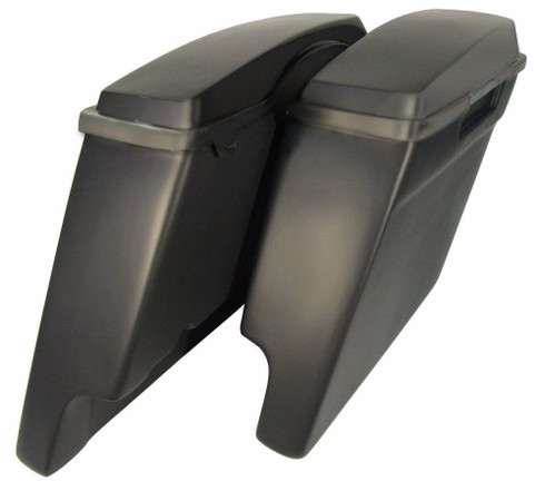 "4"" Extended Stretched Saddlebags with Lids"