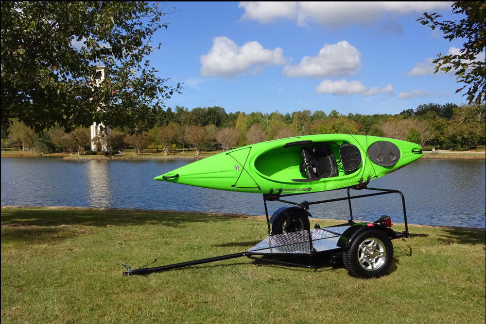 Folding Kayak and Bike Adventure Trailer for Car or Motorcycle