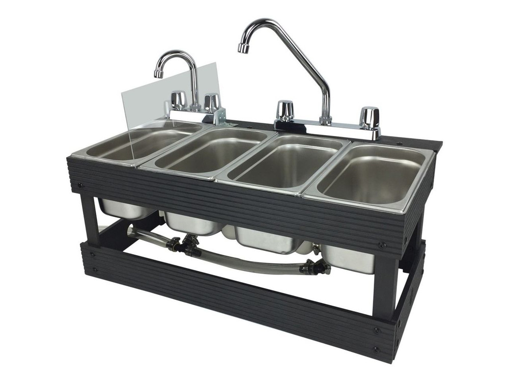 Portable 4 Compartment Sink.Portable Sink Mobile Concession 4 Compartment Sink Table Top Sink
