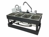 Portable Sink Mobile Concession, 4 Compartment Sink, Table Top Sink