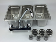 Concession Sink 3 Small Compartment Stand Food Trailer Truck