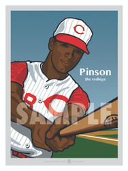 Digital Illustration of Vada Pinson - one of the All-Time Redleg Greats!
