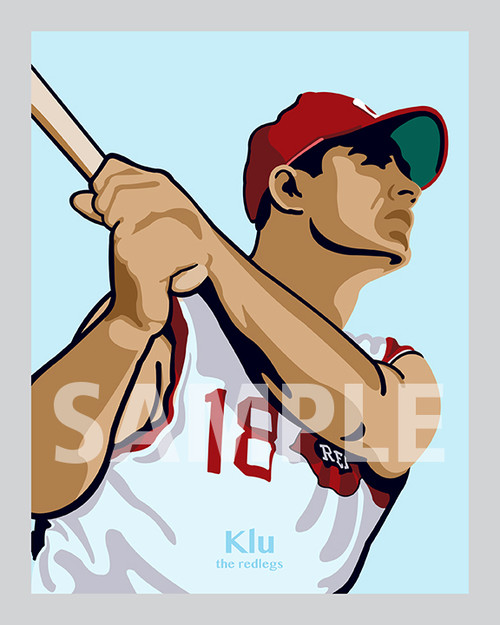 Digital Illustration of Ted Kluszewski - one of the All-Time Redleg Greats!