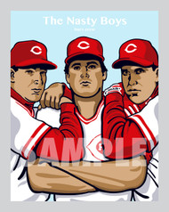"Digital Illustration of ""The Nasty Boys"" - one of the most feared group of relief pitchers for the Cincinnati baseball team!"