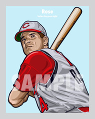 Digital Illustration of Pete Rose - one of the All-Time Greats from the Big Red Machine!