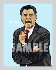 Digital Illustration of Rick Pitino - one of the All-Time College Coaching Greats!
